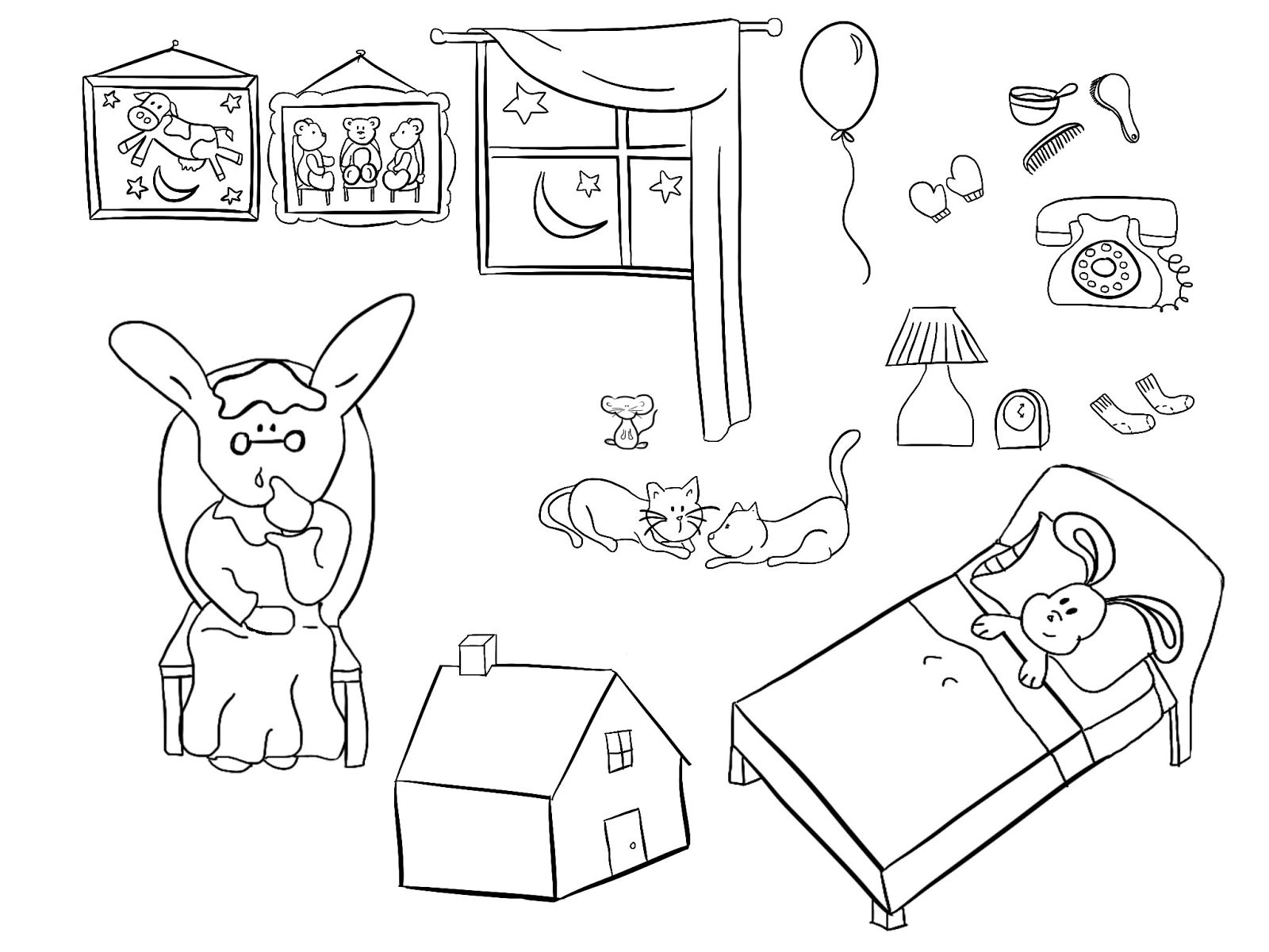 printable goodnight moon coloring pages - photo#2