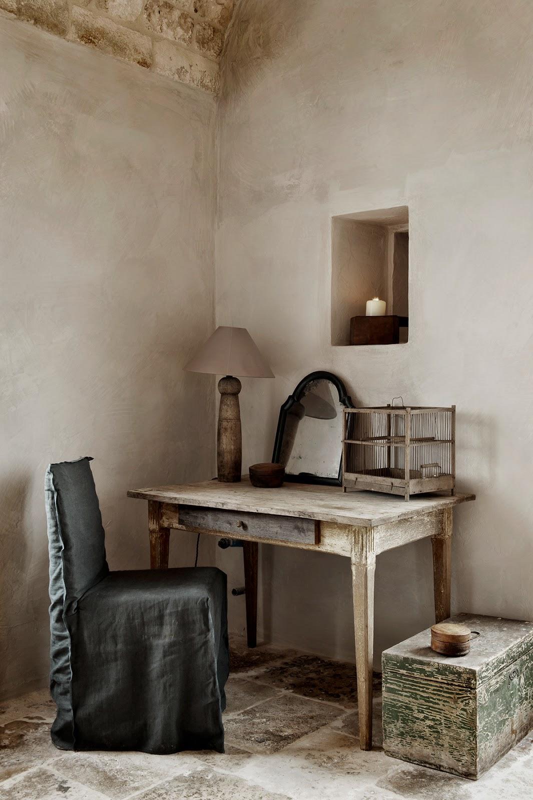 rustic sitting corner