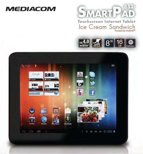 Tablet ics mediacom smartpad 852i