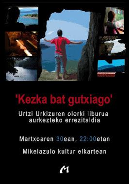Urtzi Urkizuren olerki liburuaren aurkezpena.