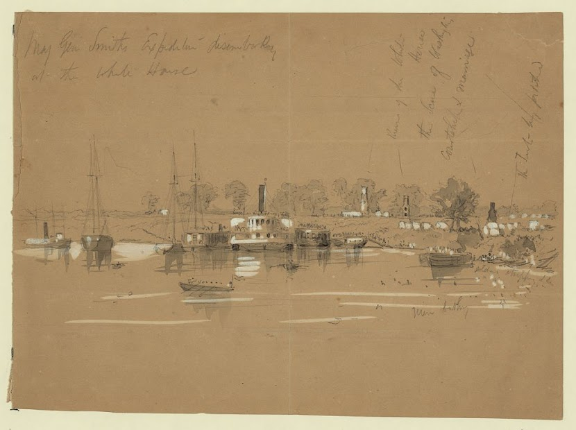 White House Landing by William Waud