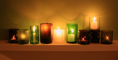 recycled glass candle holders made in Kampala, Uganda Good Glass