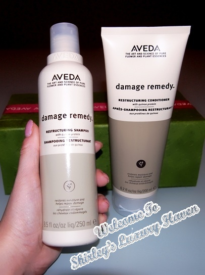 aveda damage remedy restructuring shampoo and conditioner
