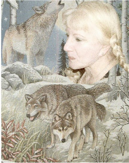 Clara with wolves