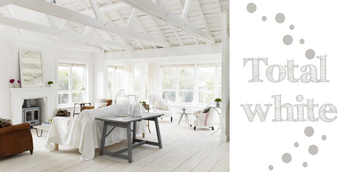 Total white home shabby home arredamento interior craft for Arredamento total white