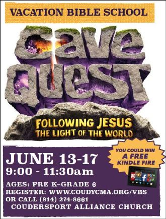 6-13/14/15/16/17 VBS Alliance, Coudersport
