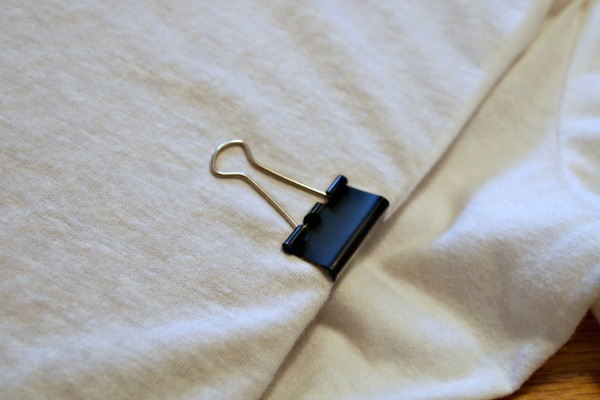 Fabric Painting Hack! Use binder clips to hold your fabric to a piece of cardboard!