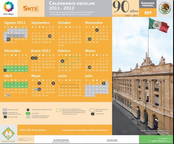 Calendario Oficial De La Sep 2011 2012