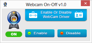WebCam On-Off