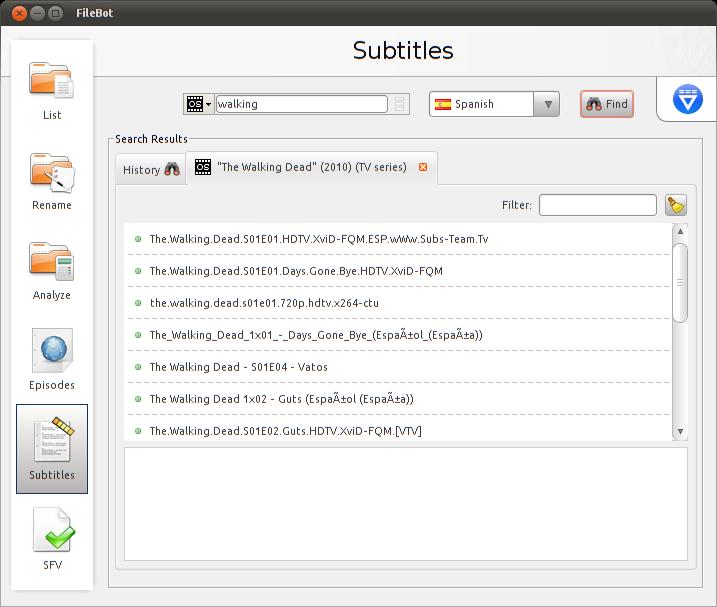 Descarga subtítulos y organiza tu filmoteca en Ubuntu, series subtituladas ubuntu
