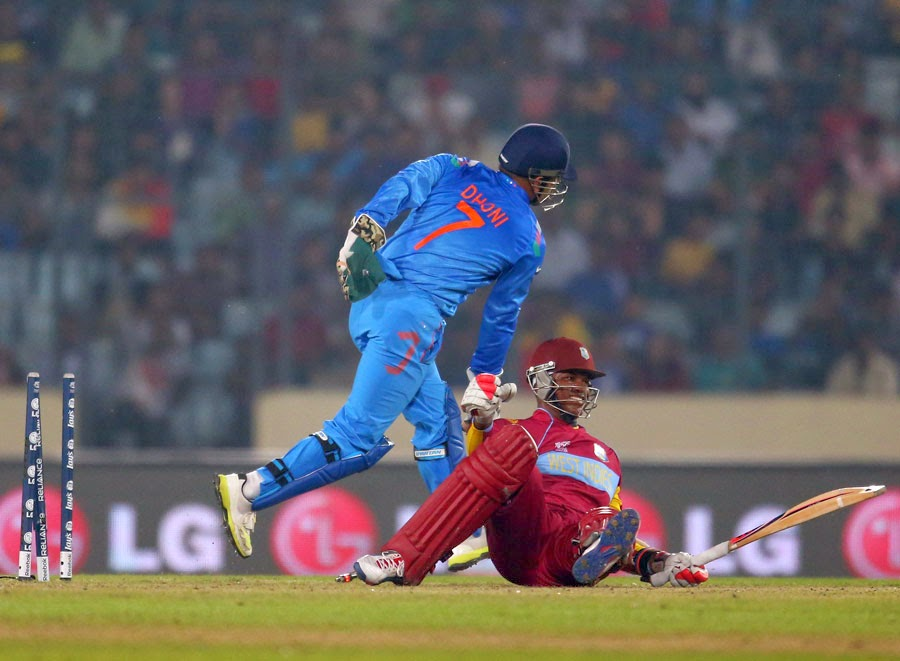 Marlon-Samuels-stumped-by-MS-Dhoni-India-v-West-Indies-World-T20-2014