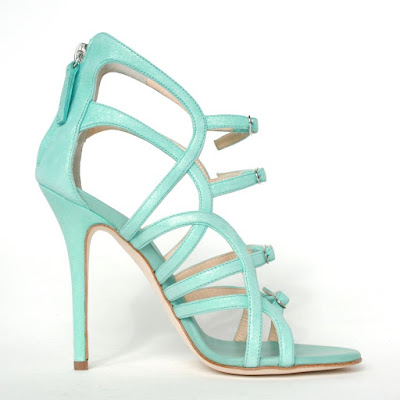giuseppe zanotti design acqua blue strappy buckle pumps heels wendy