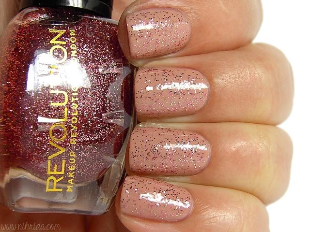 Makeup Revolution Glitter Nail Polish - Love for Sale