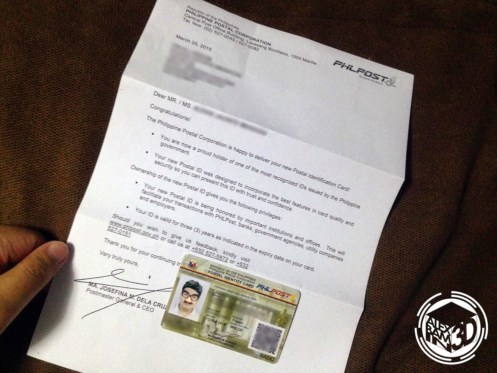 Getting the new philippine postal id alexbamin3d if youre still confused om how to get the new postal id you can check out the frequently asked questions that our friends from the philippine postal aiddatafo Gallery