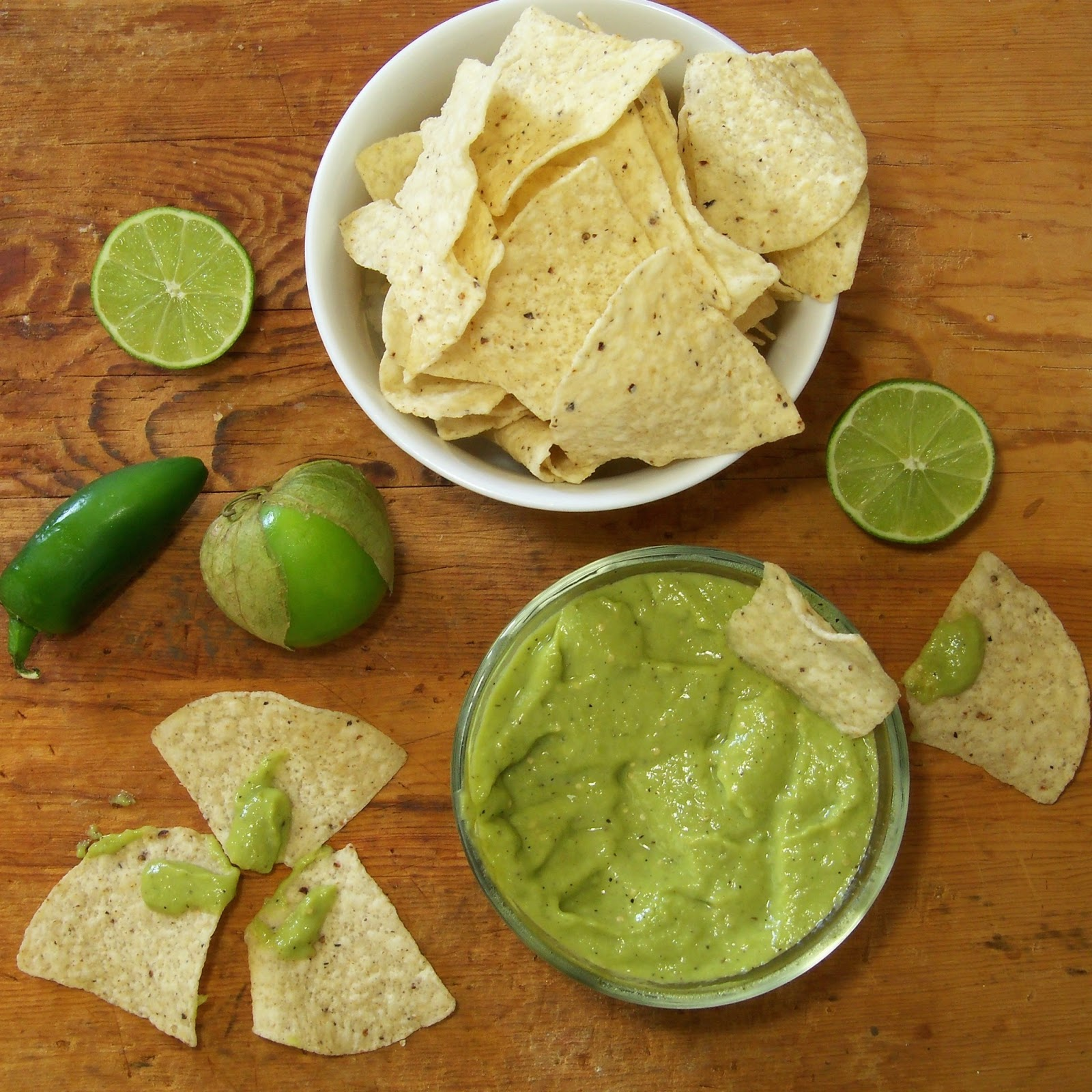 Avocado And Roasted Tomatillo Salsa Recipe — Dishmaps