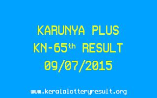 Karunya Plus KN 65 Lottery Result 9-7-2015