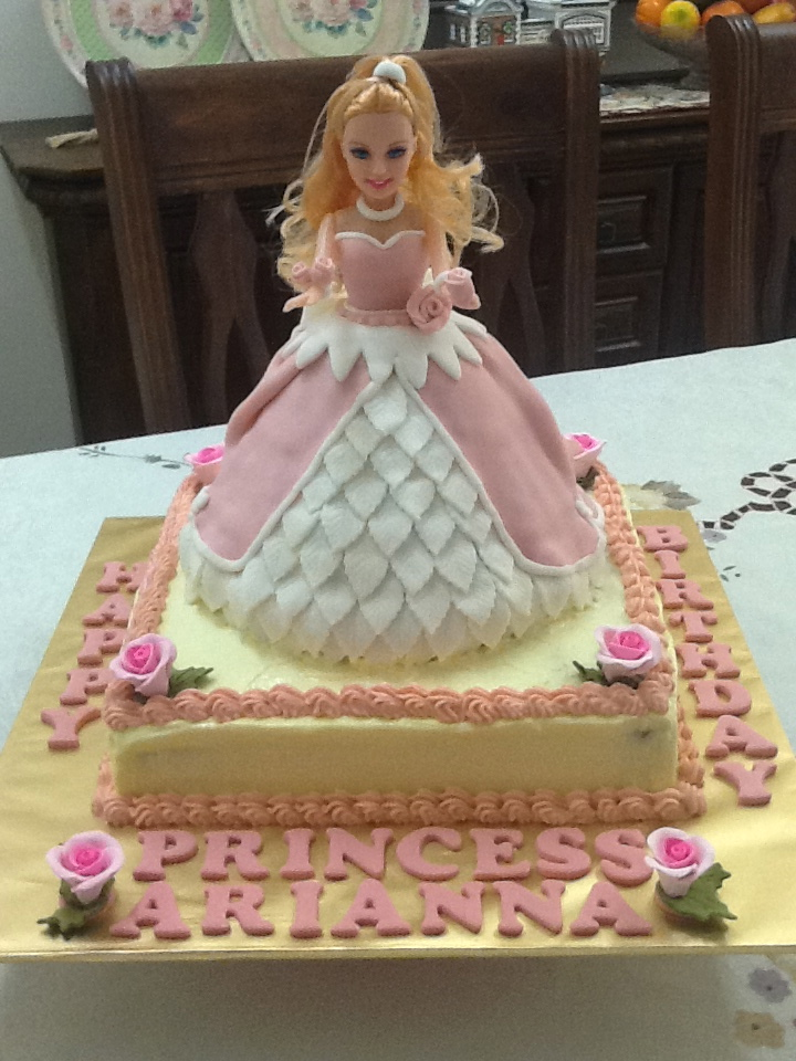The Base Cake Was An 11 Square Moist Chocolate Covered With Classic Vanilla Buttercream Icing Princess