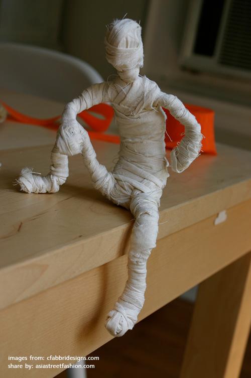 งานประดิษฐ์ DIY ตุ็กตามัมมี่(Mummies doll)