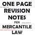 1 PAGE MERCANTILE LAWS FOR 7 ACTS - REVISION NOTES FOR 7 ACTS IN 7 PAGES