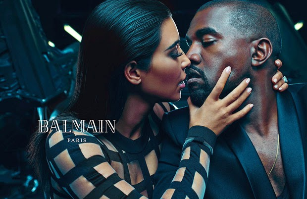 Kanye West and Kim Kardashian front the Balmain Spring/Summer 2015 Menswear Campaign