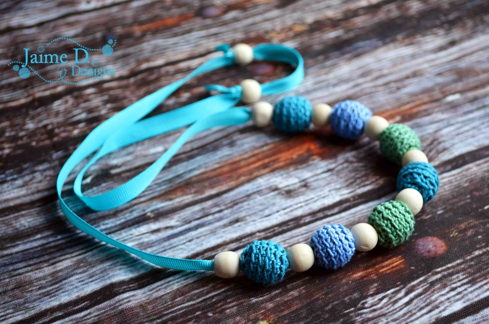 Jaime D. Designs: Crocheted Teething Necklace