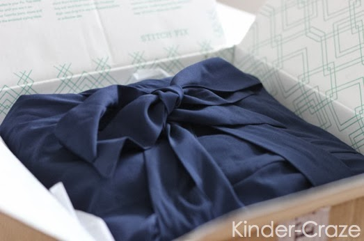 navy dress in stitch fix box