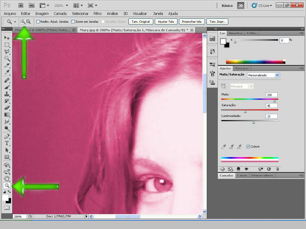 como colorir imagens no photoscape - PhotoScape Edições Colorindo Objetos {Olhos Cabelos