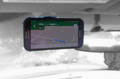 Galaxy S4 attached with a DENOTEK Windshield Car Phone Mount Holder