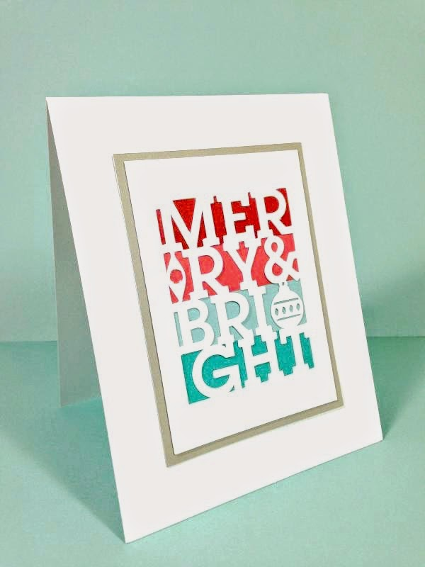 Close To My Heart Artfully Sent Cricut cartridge Simple Christmas card side view