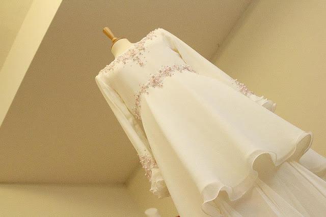 Busana pengantin edisi peplum