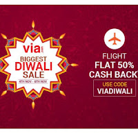 Via.com : Get Flight Tickets 50% Cashback : Buytoearn