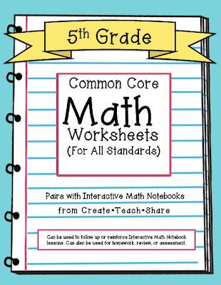 math worksheet : common core worksheets 5th grade edition  create●teach●share : Common Core Fraction Worksheets