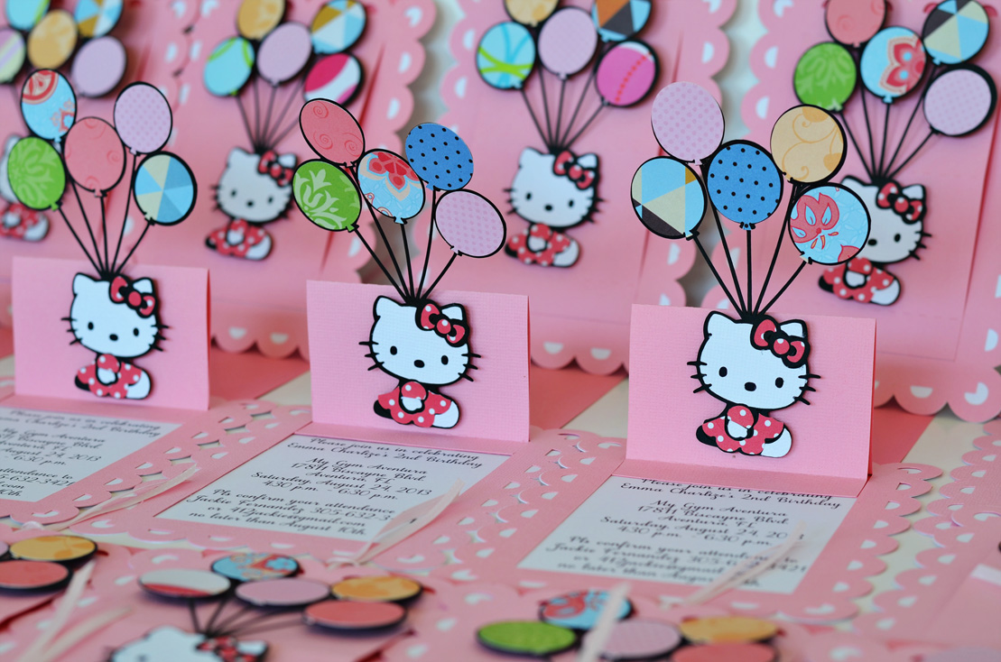 Birthday and Baby Shower Invitations Hello Kitty Birthday Baby – Custom Hello Kitty Birthday Invitations