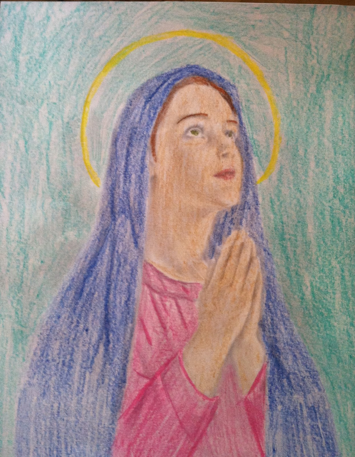 Life of a Catholic Teen Blessed Virgin Mary Coloring Page