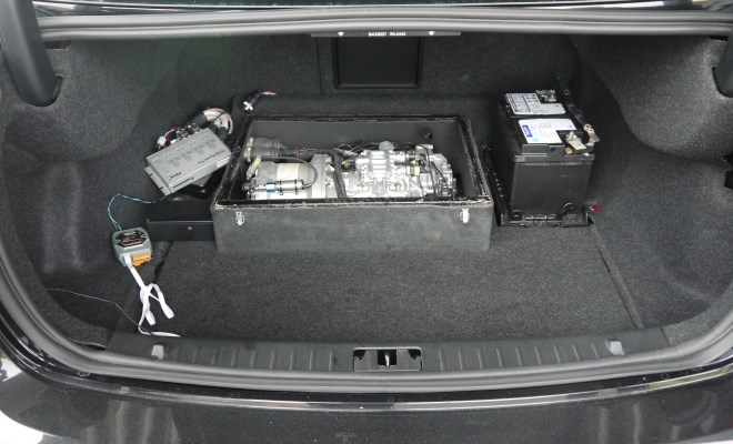 Volvo S60 KERS prototype unit in the boot