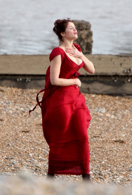 british geema arterton busts out photo gallery