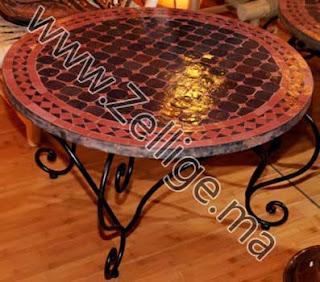 les tables petites marocain en mosa que marocain table. Black Bedroom Furniture Sets. Home Design Ideas