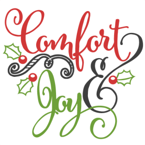 Comfort & Joy cut file by Miss Kate Cuttables
