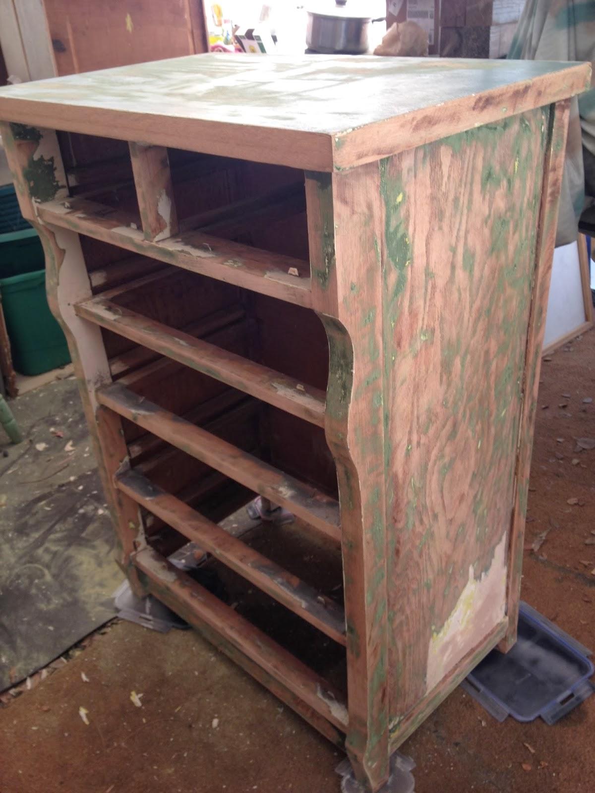 black antique dresser stripped paint
