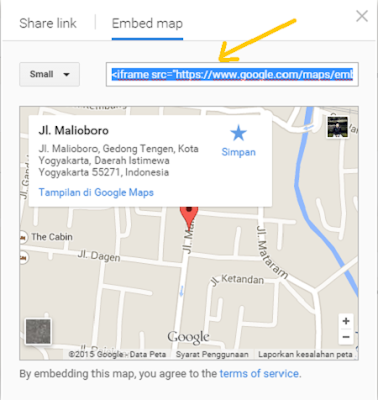 cara masang google map di blog 5