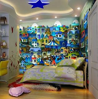 10 dormitorios decorados con murales divertidos for Dormitorio infantil bosque