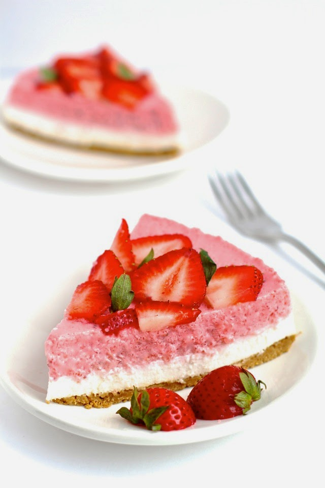No Bake Strawberry Cheesecake By Running With Spoons