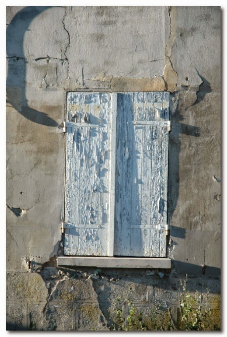 peeling paint french shutters
