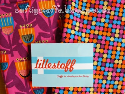 "Lillestoff ""Tulipa"" pink, lila, orange"