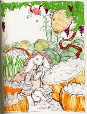 Moles Market Sketch
