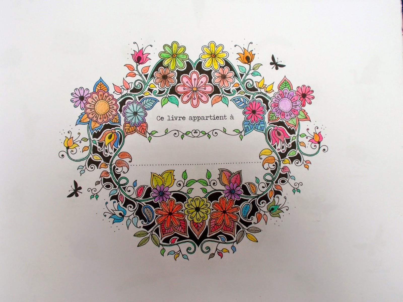 Julie 39 s lifestyle coloriages jardin secret - Mon jardin secret coloriage ...