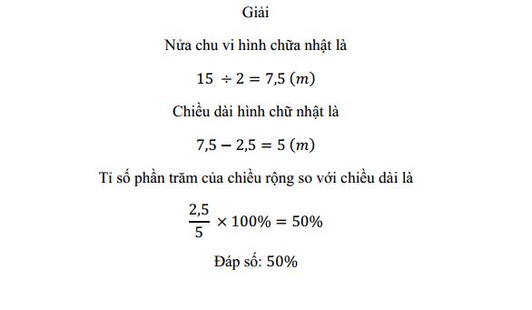 Bài toán tỉ số phần trăm