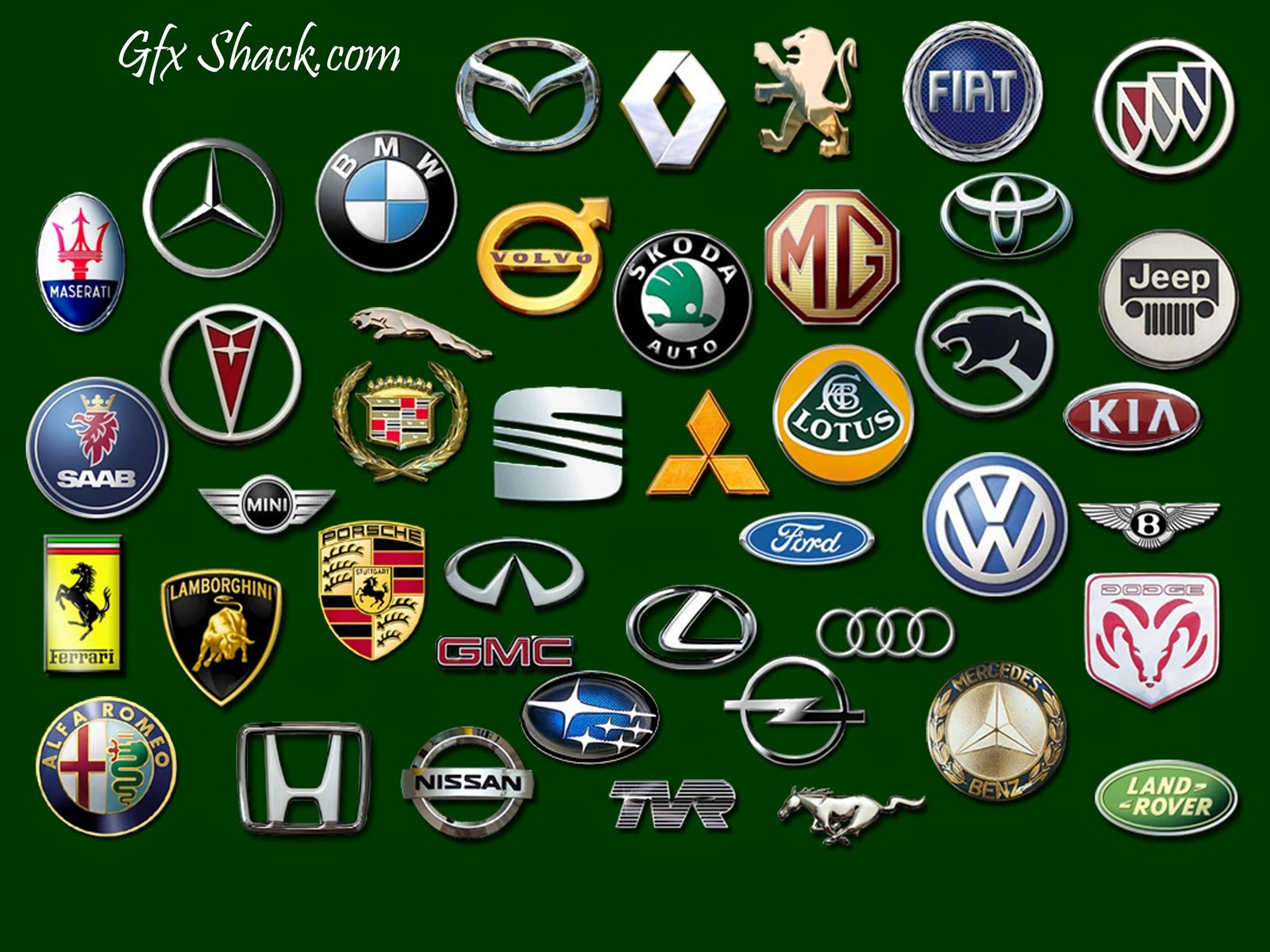 World Famous Car Logos