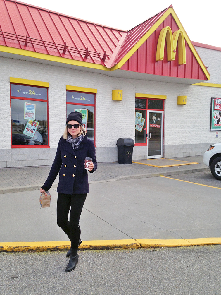fashion over reason travel style what i wore, road trip, McDonald's run