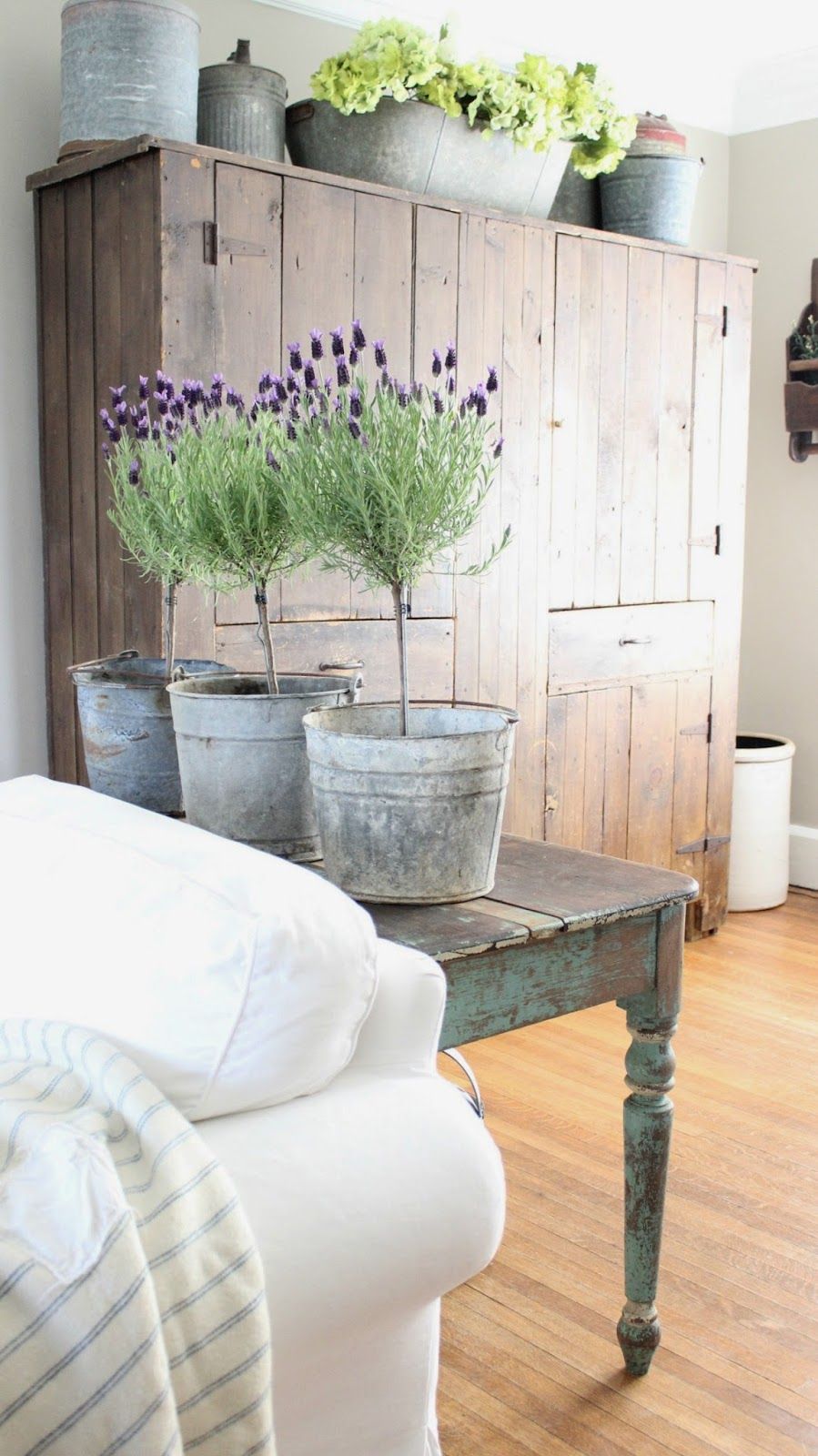 Rustic Farmhouse Lavender Topiaries